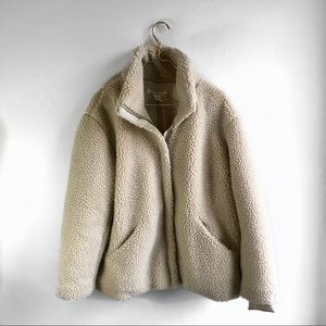 Jackets & Blazers - LOGG Cream Colored Teddy Bear Coat.